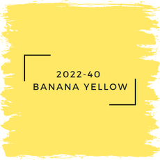Benjamin Moore 2022-40  Banana Yellow