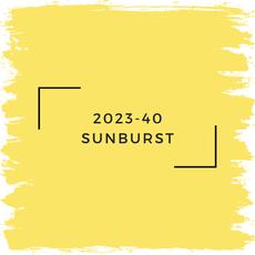Benjamin Moore 2023-40 Sunburst