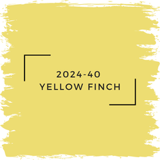 Benjamin Moore 2024-40  Yellow Finch