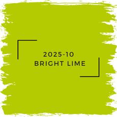 Benjamin Moore 2025-10  Bright Lime