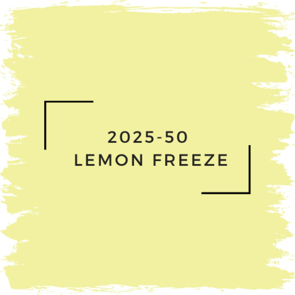 Benjamin Moore 2025-50  Lemon Freeze
