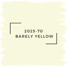 Benjamin Moore 2025-70  Barely Yellow