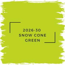 Benjamin Moore 2026-30  Snow Cone Green