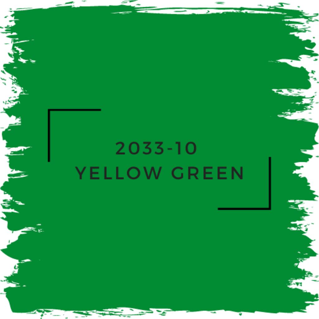 Benjamin Moore 2033-10  Yellow Green