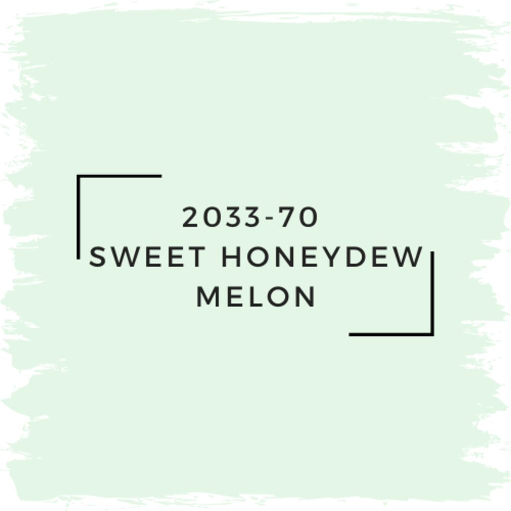 Benjamin Moore 2033-70  Sweet Honeydew Melon