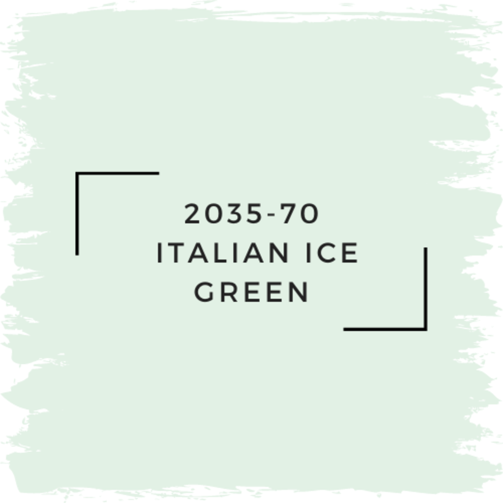 Benjamin Moore 2035-70  Italian Ice Green