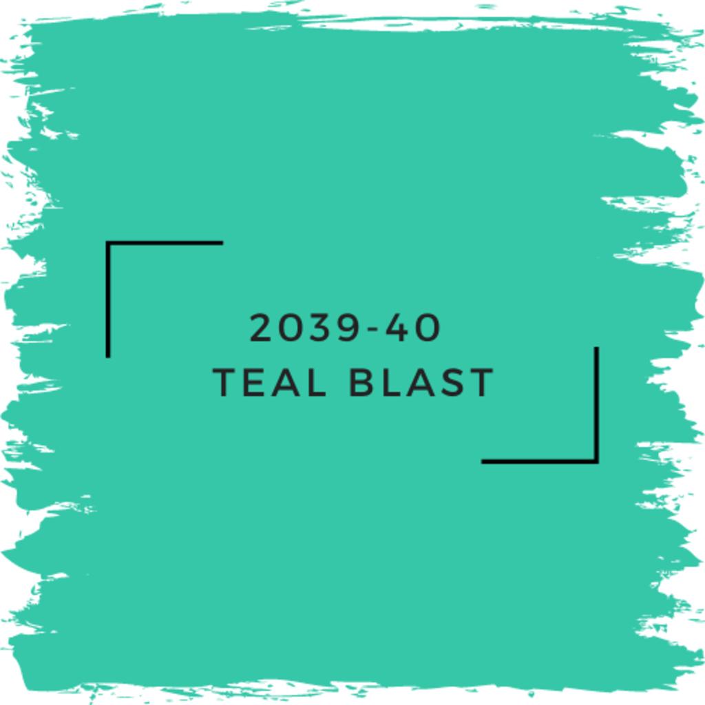 Benjamin Moore 2039-40  Teal Blast