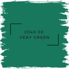 Benjamin Moore 2040-30  Very Green