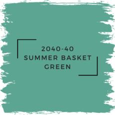 Benjamin Moore 2040-40 Summer Basket Green