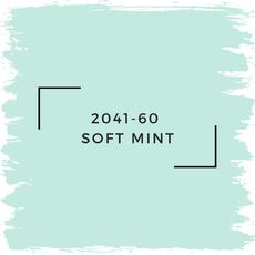 Benjamin Moore 2041-60  Soft Mint