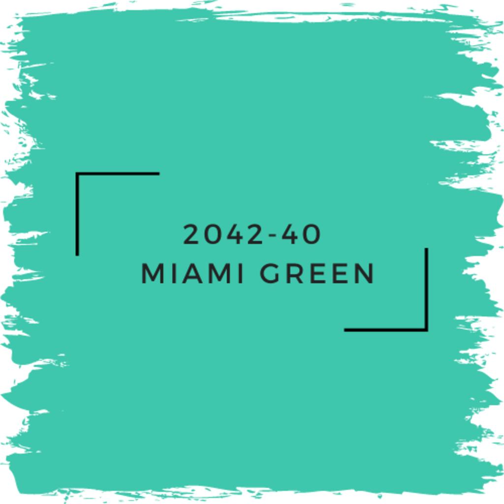 Benjamin Moore 2042-40  Miami Green