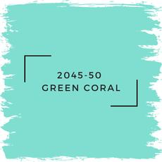 Benjamin Moore 2045-50  Green Coral