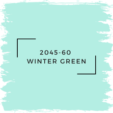 Benjamin Moore 2045-60  Winter Green