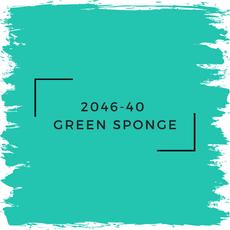 Benjamin Moore 2046-40  Green Sponge