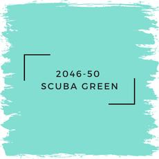 Benjamin Moore 2046-50  Scuba Green