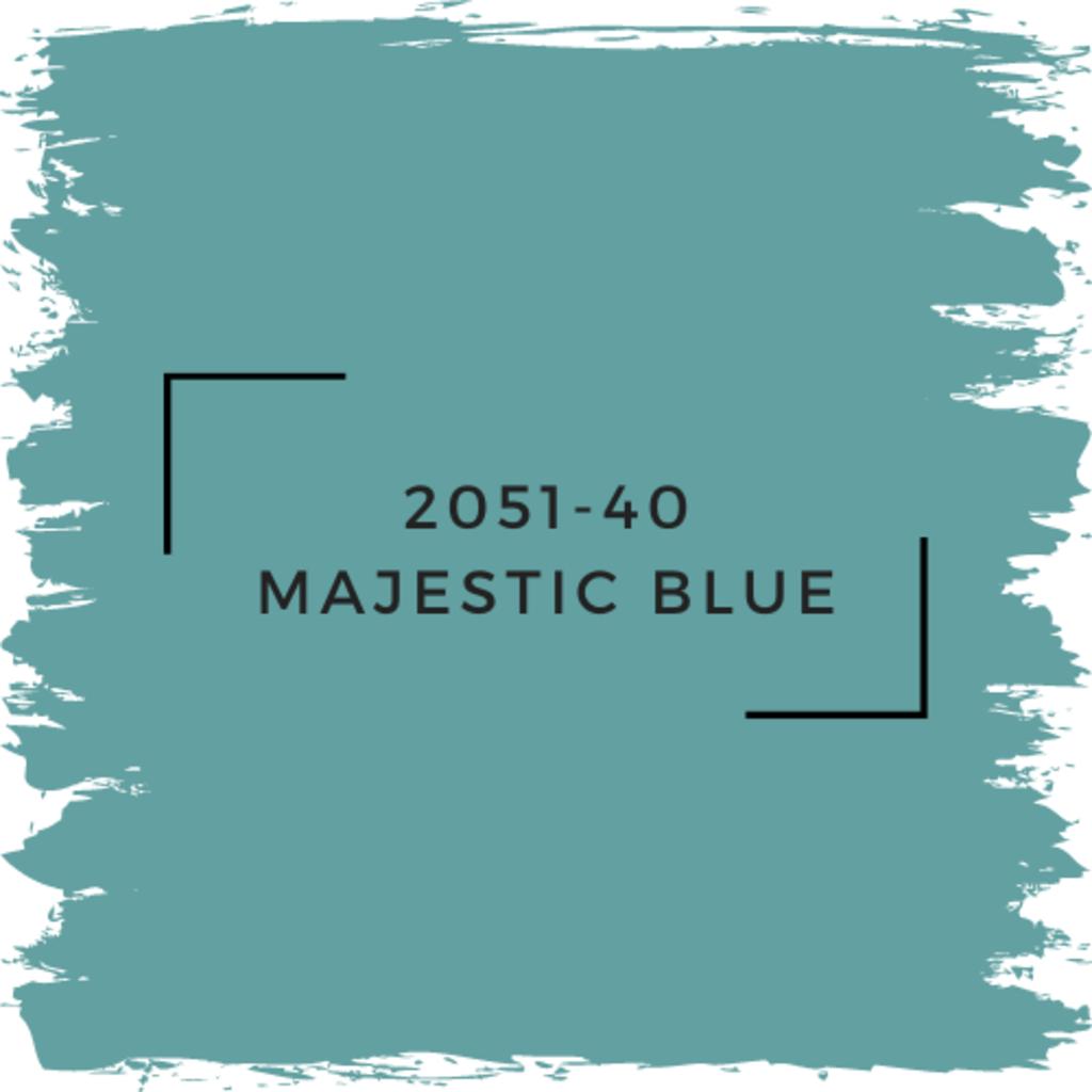 Benjamin Moore 2051-40 Majestic Blue