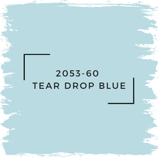 Benjamin Moore 2053-60  Tear Drop Blue