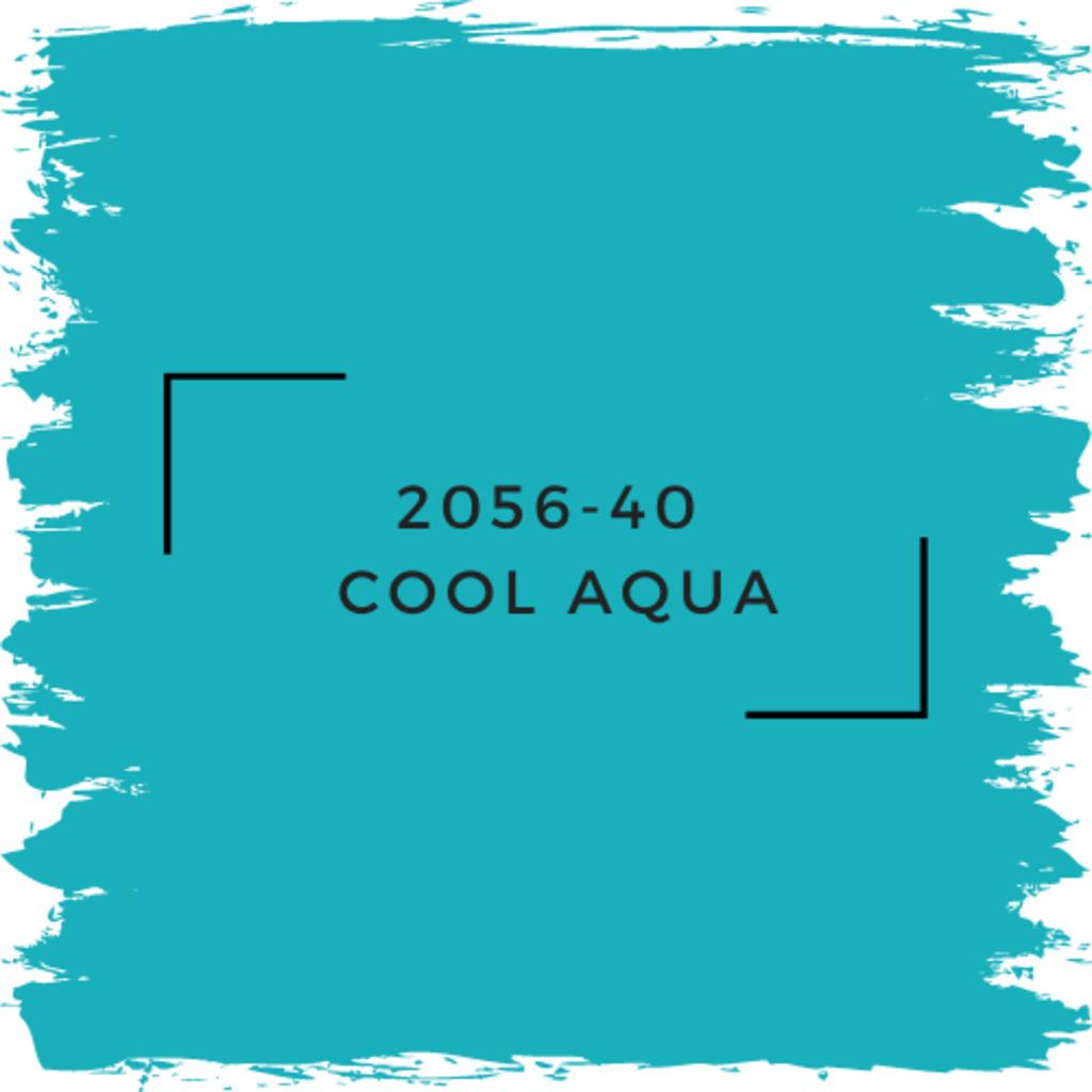 Benjamin Moore 2056-40  Cool Aqua
