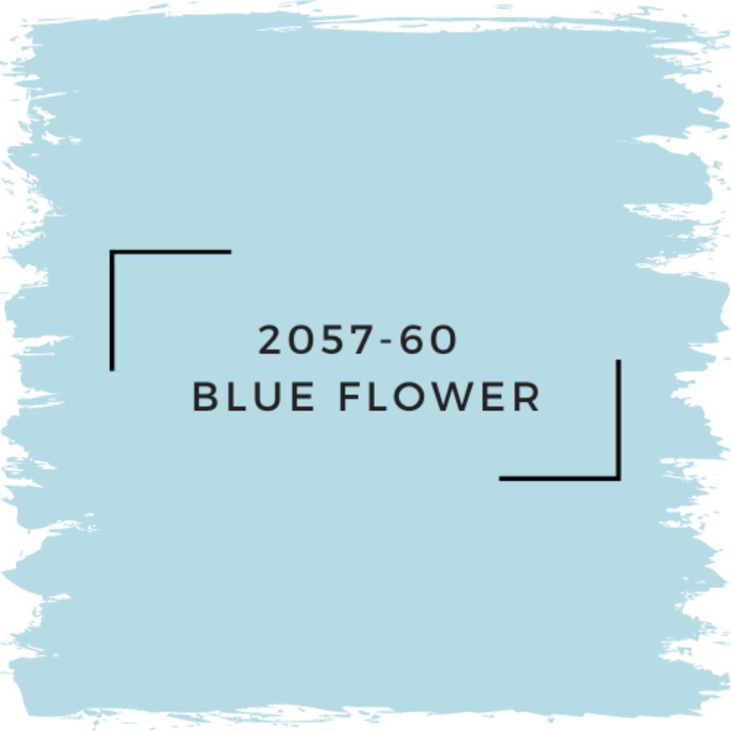 Benjamin Moore 2057-60  Blue Flower