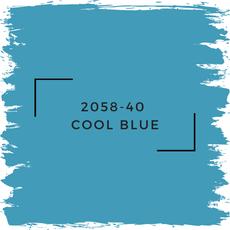 Benjamin Moore 2058-40  Cool Blue