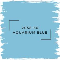 Benjamin Moore 2058-50 Aquarium Blue