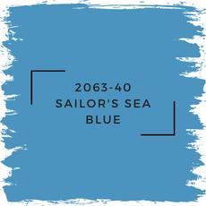 Benjamin Moore 2063-40 Sailor's Sea Blue