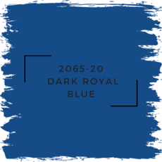 Benjamin Moore 2065-20  Dark Royal Blue