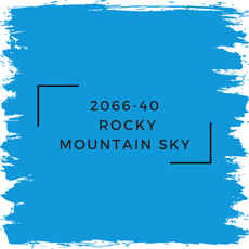 Benjamin Moore 2066-40  Rocky Mountain Sky