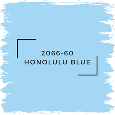 Benjamin Moore 2066-60 Honolulu Blue
