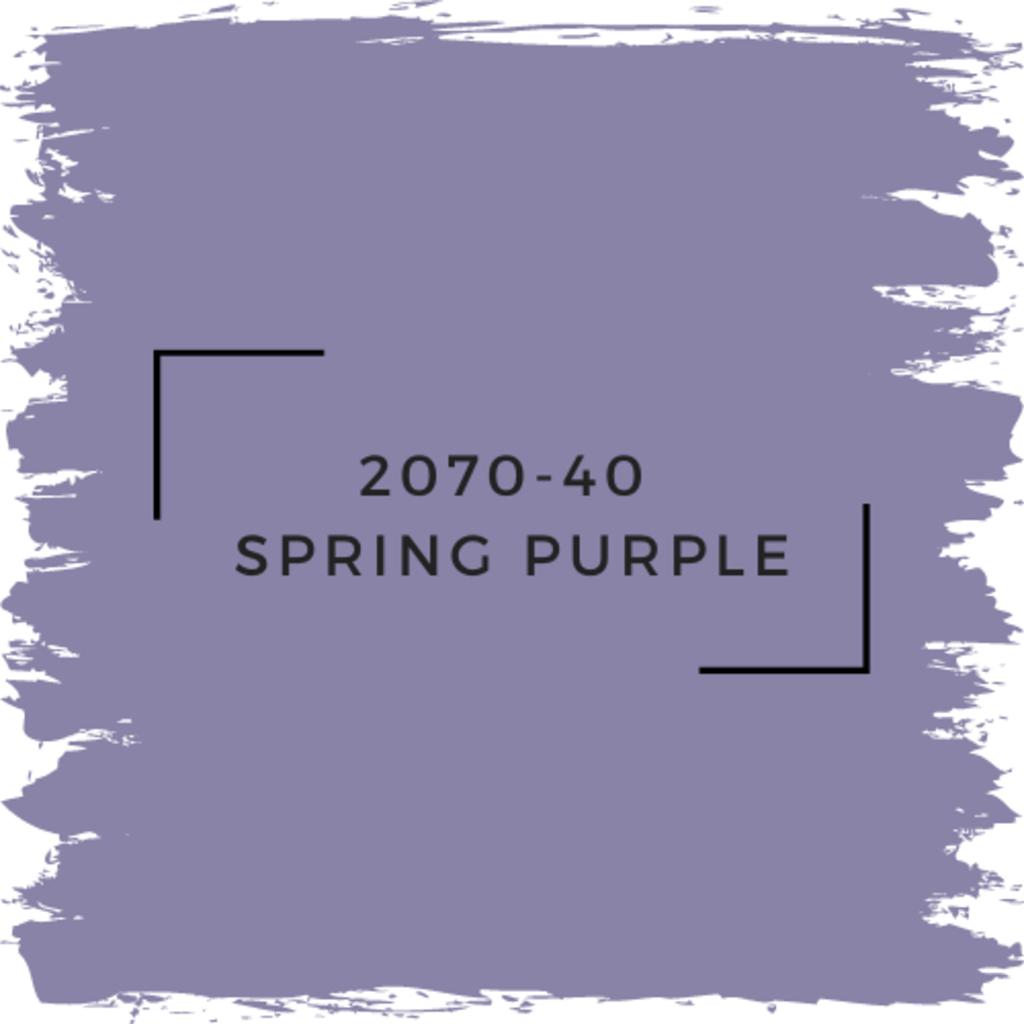Benjamin Moore 2070-40  Spring Purple