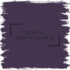 Benjamin Moore 2071-10  Exotic Purple