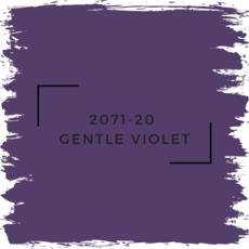 Benjamin Moore 2071-20  Gentle Violet