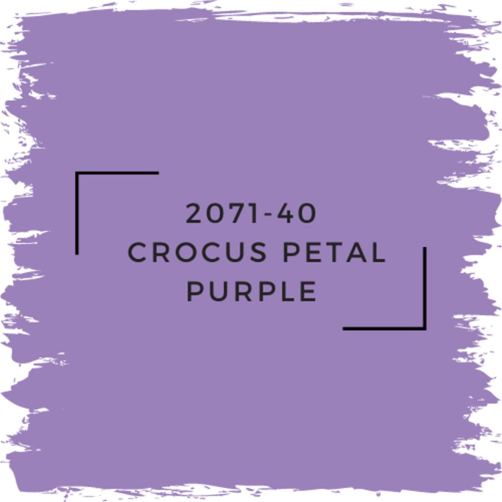 Benjamin Moore 2071-40  Crocus Petal Purple
