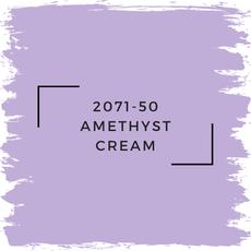 Benjamin Moore 2071-50 Amethyst Cream