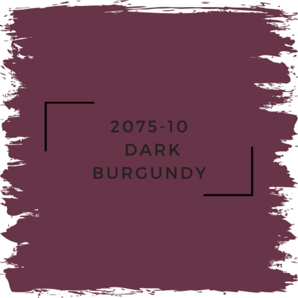 Benjamin Moore 2075-10  Dark Burgundy
