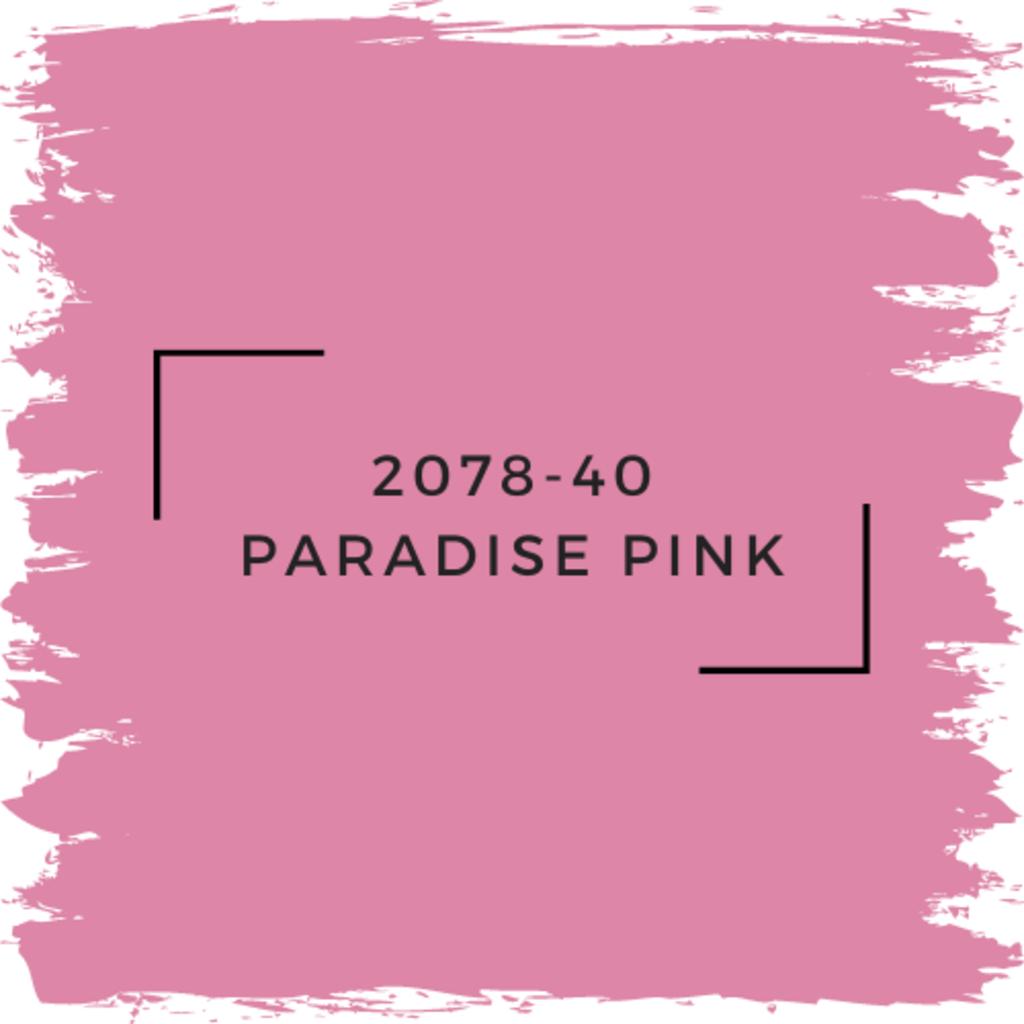 Benjamin Moore 2078-40 Paradise Pink