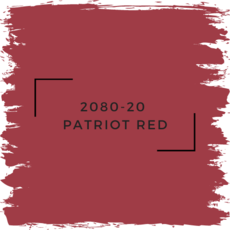 Benjamin Moore 2080-20  Patriot Red