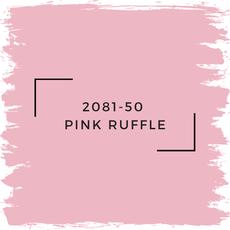 Benjamin Moore 2081-50  Pink Ruffle