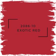Benjamin Moore 2086-10  Exotic Red