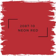 Benjamin Moore 2087-10  Neon Red