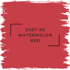 Benjamin Moore 2087-20 Watermelon Red