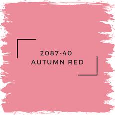 Benjamin Moore 2087-40  Autumn Red