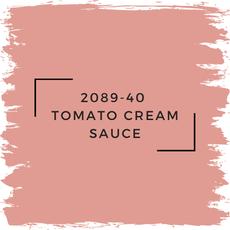 Benjamin Moore 2089-40  Tomato Cream Sauce