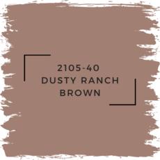 Benjamin Moore 2105-40  Dusty Ranch Brown