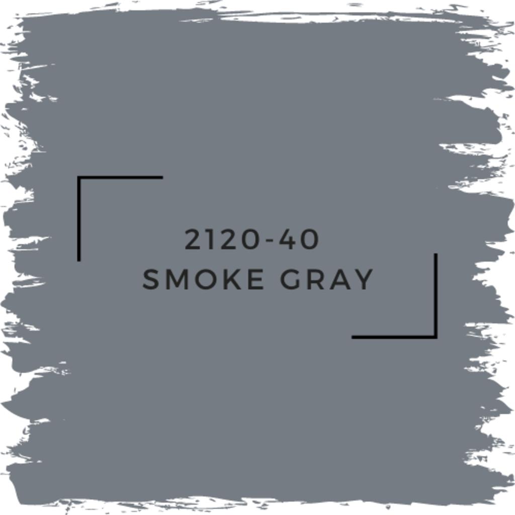 Benjamin Moore 2120-40  Smoke Gray