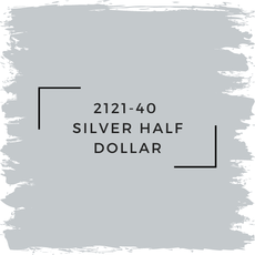 Benjamin Moore 2121-40  Silver Half Dollar