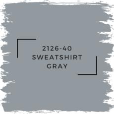 Benjamin Moore 2126-40 Sweatshirt Gray