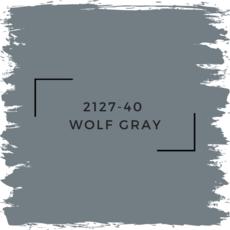 Benjamin Moore 2127-40  Wolf Gray