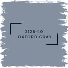 Benjamin Moore 2128-40  Oxford Gray