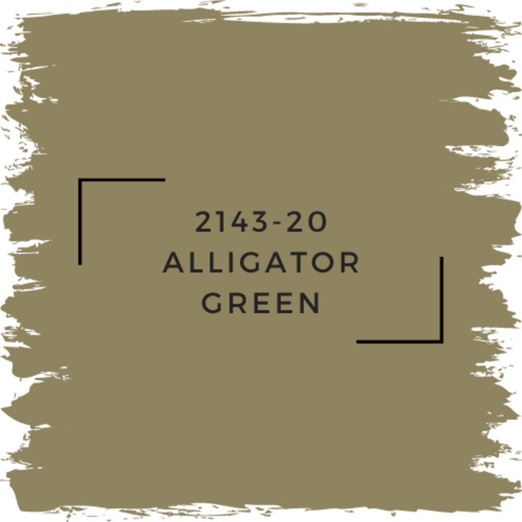 Benjamin Moore 2143-20 Alligator Green